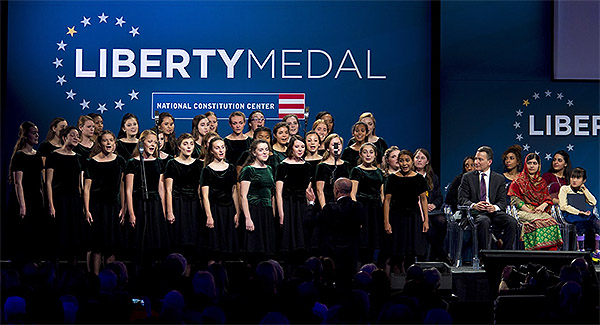 Pennsylvania Girlchoir at the Liberty Medal ceremony for Malala Yousafzai